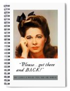 Get There And Back - Ww2 Spiral Notebook