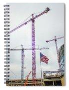 Getter Done Tower Crane Construction Art Spiral Notebook