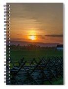 Gettysburg At Sunset Spiral Notebook