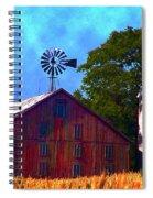 Gettysburg Barn Spiral Notebook