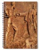 Gettysburg Bronze Relief Spiral Notebook
