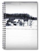 Gettysburg Farm In Winter Spiral Notebook