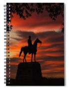 Gettysburg - Gen. Meade At First Light Spiral Notebook