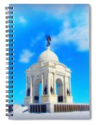Gettysburg Memorial In Winter Spiral Notebook