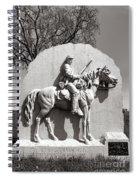 Gettysburg National Park 17th Pennsylvania Cavalry Monument Spiral Notebook