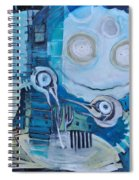 Ghost Birds At Play Spiral Notebook