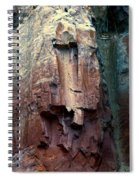 Ghost Cliff Abstract Spiral Notebook
