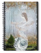 Ghost Of A Rose Spiral Notebook