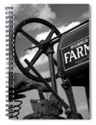 Ghost Of Farmall Past Spiral Notebook