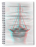 Ghost Ship - Use Red-cyan 3d Glasses Spiral Notebook