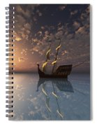 Ghost Ship Spiral Notebook