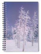 Ghost Trees Yellowstone National Park Spiral Notebook