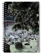 Ghostly Cemetary Spiral Notebook