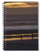 Ghostly Sunset Walk Spiral Notebook