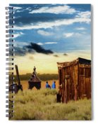 Ghostly Town 2 Spiral Notebook