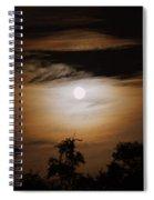Ghosts Around The Moon Spiral Notebook