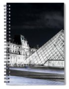 Ghosts Of The Louvre Museum  Art Spiral Notebook