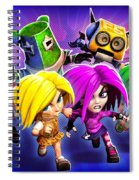 Giana Sisters Dream Runners Spiral Notebook