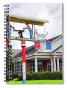 Giant Folk-art Weathervane 1 Spiral Notebook