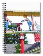 Giant Folk-art Weathervane 2 Spiral Notebook