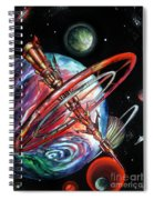 Giant, Old Red Space Shuttle Of Alien Civilization Spiral Notebook