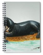 Giant River Otter Spiral Notebook