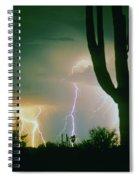 Giant Saguaro Cactus Lightning Storm Spiral Notebook