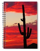 Giant Saguaro  Southwest Desert Sunset Spiral Notebook