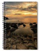 Giants Causeway Sunset Spiral Notebook