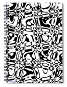 Gibberish Black And White Abstract Spiral Notebook