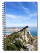 Gibraltar Rock Bay And Town Spiral Notebook