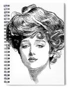 Gibson Girl, 1900 Spiral Notebook