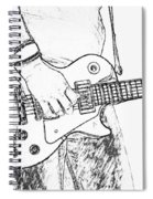 Gibson Les Paul Guitar Sketch Spiral Notebook