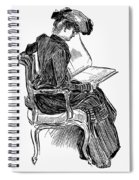Gibson: Woman Reading Spiral Notebook