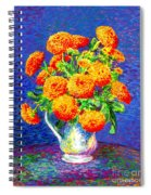 Gift Of Gold, Orange Flowers Spiral Notebook