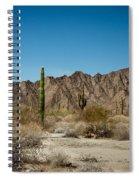 Gila Mountains And Sonoran Desert Spiral Notebook