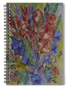 Gilded Flowers Spiral Notebook