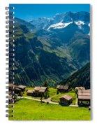 Gimmelwald In Swiss Alps - Switzerland Spiral Notebook