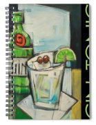 Gin And Tonic Poster Spiral Notebook