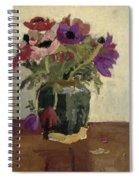 Ginger Pot With Anemones, George Hendrik Breitner, Ca. 1900 - Ca. 1923 Spiral Notebook