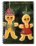 Gingerbread Christmas Ornaments Spiral Notebook