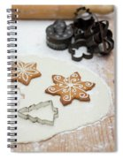 Gingerbread Making - Christmas Preparing With Vintage Kitchen Tools Spiral Notebook