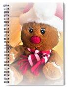 Gingerbread Man Spiral Notebook