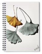 Ginkgo Leaves Spiral Notebook