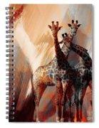 Giraffe Abstract Art 002 Spiral Notebook