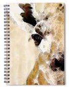 Giraffe Art - Side View Spiral Notebook