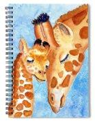 Giraffe Baby And Mother Spiral Notebook