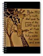 Giraffe Bible Verse Spiral Notebook