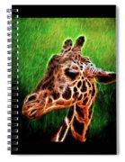 Giraffe Fractal Spiral Notebook