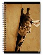 Giraffe Hiding  Spiral Notebook
